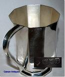 Antique English Silver Octagonal 1 Pint Tankard