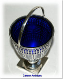 Antique English Silver Swing Handle Basket  1905 by Harry Atkin