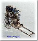 Antique Chinese Silver Rickshaw Model