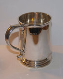 Vintage English Sterling Silver Georgian Style One Pint Tankard 1945