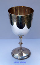 Antique English Silver Goblet  1875