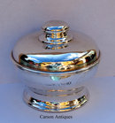 Antique English Edwardian Silver SUGAR BOWL & Cover 1908