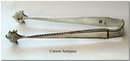 Antique English Pr Silver Cast Sugar Tongs 1773 by Thomas Tookey