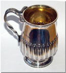 Geo IV Antique English Silver, Childs Christening Mug  1822