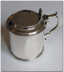 Antique Geo IV Scottish Silver Drum Mustard Pot 1824