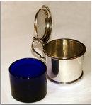 Antique Geo IV Scottish Silver Drum Mustard Pot 1824