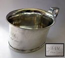 Antique  English Silver, Child's Feeding  - Christening Mug 1812
