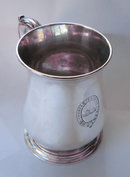 Geo II Silver Bellied Mug 1752 by Thomas Whipham of London