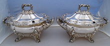 Pr Old Sheffield Plate Sauce Tureens 1833