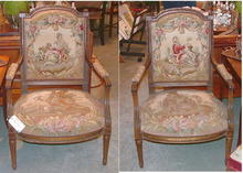 19th Century French Aubusson Chairs
