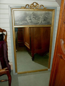 French Trumeau Mirror