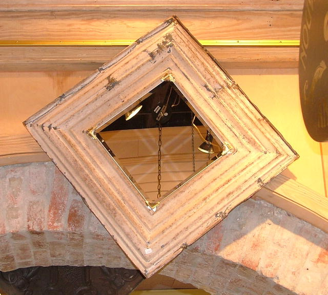 Antique Tin Ceiling Tile Mirror