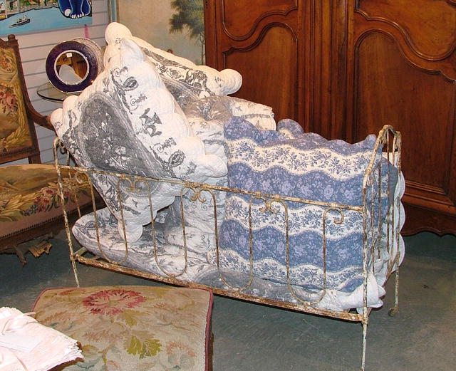 Antique Iron Baby Bed