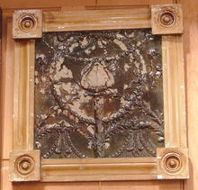 Antique Framed Tin Ceiling Tile