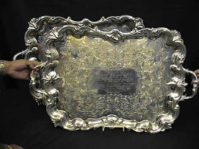 Pr silver trays