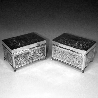 pair of table boxes