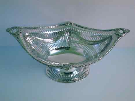 Antique Silver Pierced Dish