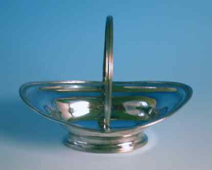 Antique Silver Oval Sweetmeat Basket