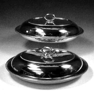 Pair of entree dishes