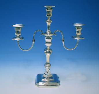 Hallmarked Silver Candelabra