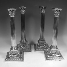 set of four candlesticks