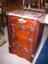 English Coal Bin with Marble Top