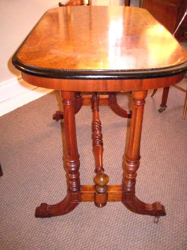 English Walnut Console Table