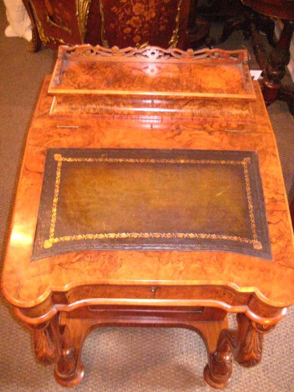 English Davenport Walnut Desk