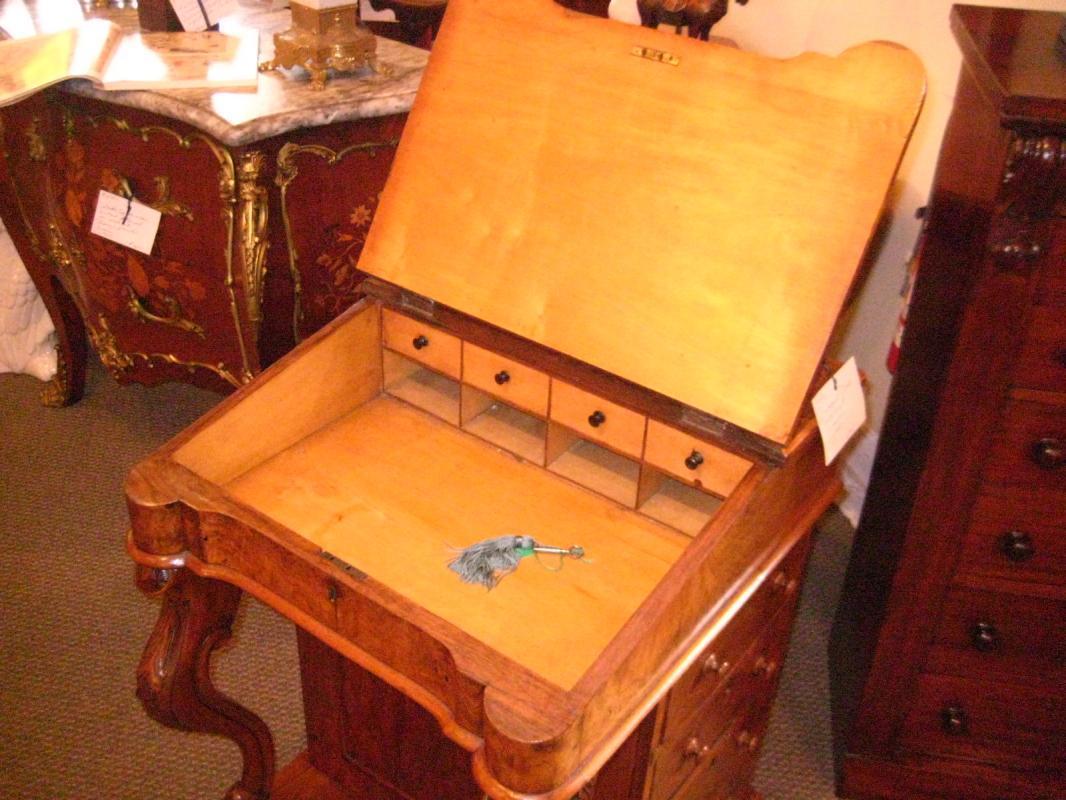 English Davenport Walnut Desk