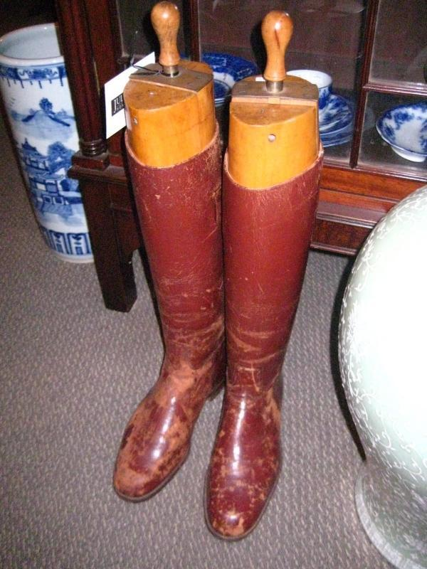 English Leather Riding Boots