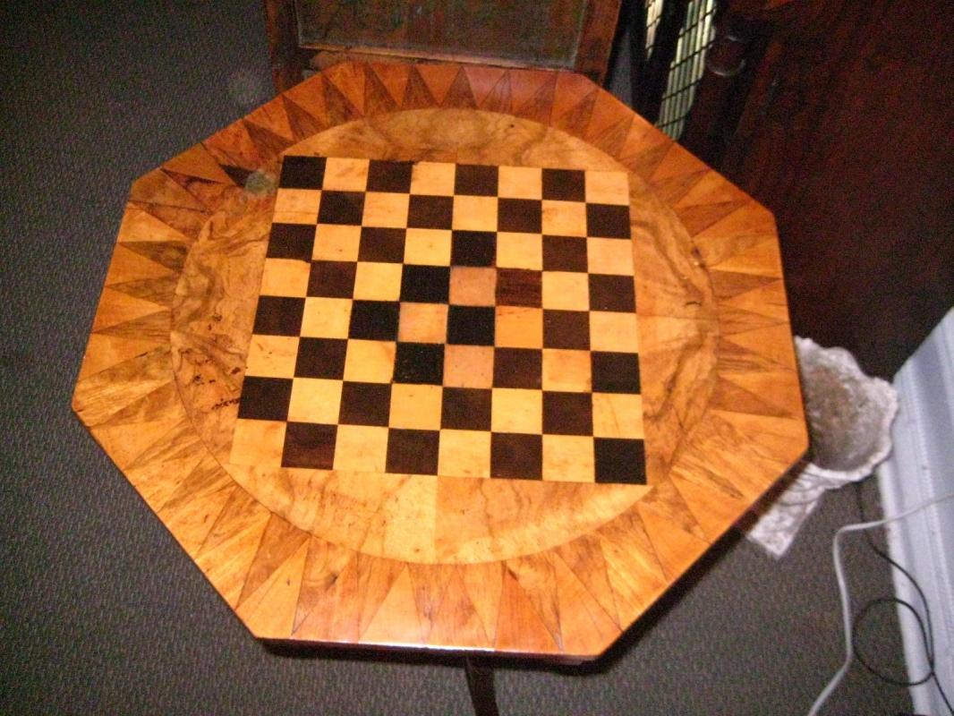 English Inlaid Game Table
