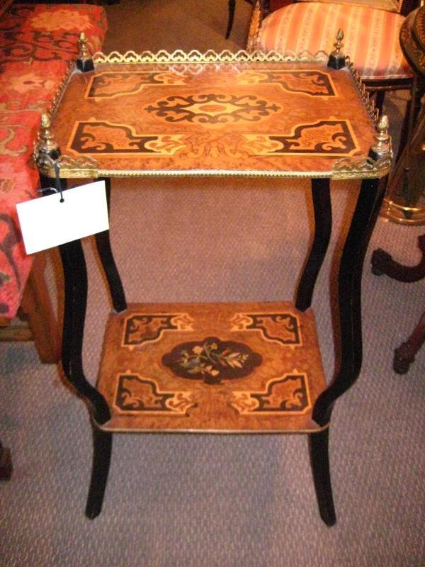 English Two Tier Side Table
