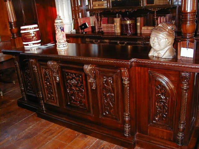 English Mahogany Bar