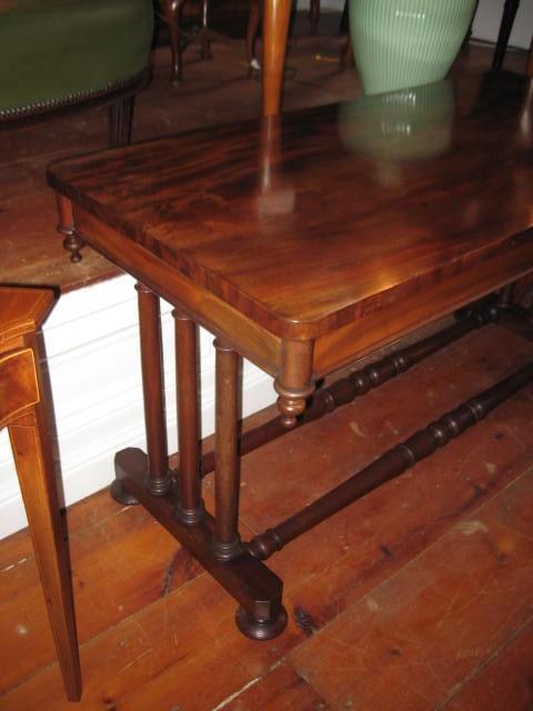 English Library Table in Mahogany