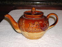 English Lambeth Stoneware Tea Pot