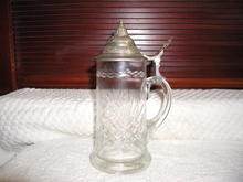 Etched Crystal Stein