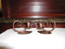 Pair of Gregorian Copper Candle Sticks
