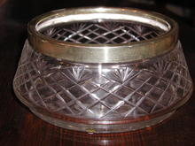 Crystal Bowl with S/P Rim