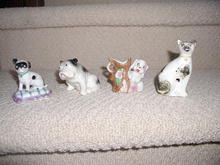 Group of Ceramic Dogs and Cat