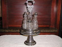 Victorian  Silverplate Cruet Set