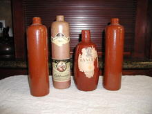 Stoneware Wine Bottles