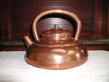 French Copper Tea Kettle