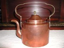 Dutch Brass and Copper Tea Kettle