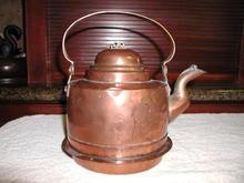 Antique Swedish Copper Tea Kettle