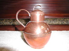 English Copper Guernsey Jug
