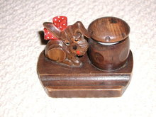 Black Forest Style Dog Inkwell