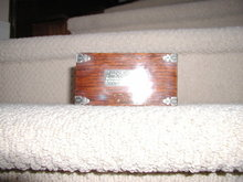 English-Silver Mounted Oak Cigarette/Match Box