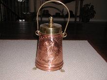Copper/Brass Coal Bin