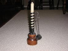 Iron/wood Pushup Candle Stick