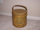 Early American Yellow Painted Firkin
